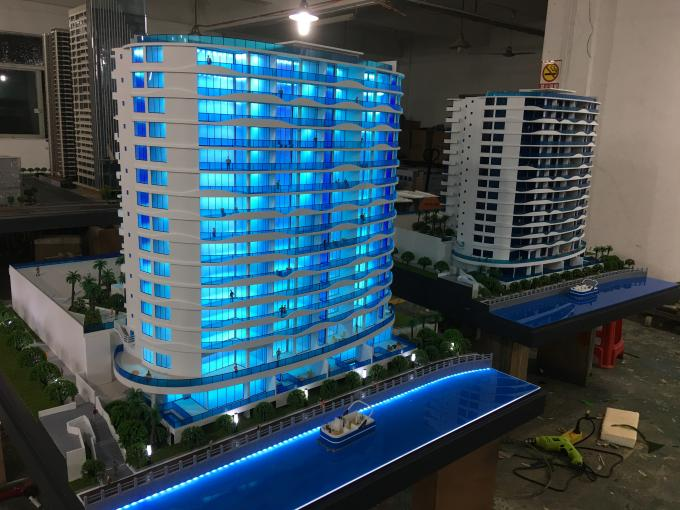 Acrylic Residential Building Model , 3D Max Building Modeling 1 . 6 * 1 . 8M