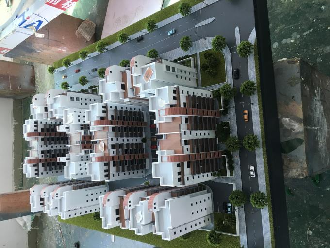 Small Size Architectural Scale Models , LED Light Commercial Building 3D Model