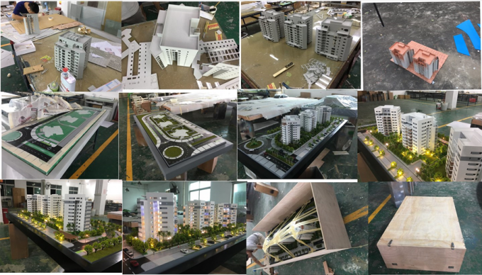 1 / 500 Scale Architecture Design Model , Commercial Architectural Scale Models