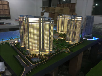 1/75 Scale Architectural House Model Builder With Light / High Rise Scale Residential Maquette