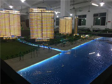 Exhibition 3D Model Architecture With Led Lighting System , Model Building Maker