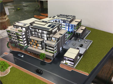 Machine - Cutting Modern Building 3D Model , LED Scale Building Models