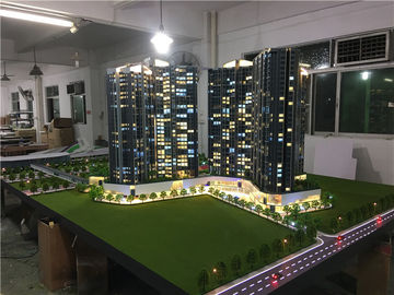 Real Estate Maquette Miniature Building Models With Light  , Construction Architecture Model Kits