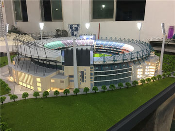 China Ho Scale Maquette Stadium With Light , Miniature Football Stadium Model factory